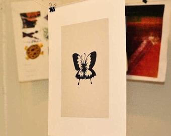 Butterfly Linocut Block Print