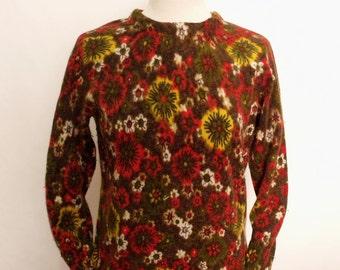60% OFF Vintage Wool flowers ladies sweater