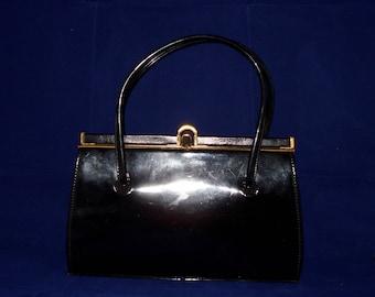 Kelly Handbag/Purse black Patent