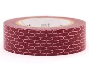 193857 mt Washi Masking Tape deco tape Japan Wamon red brown