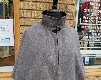 Grey Wool Capelet