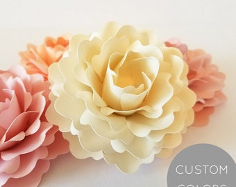 ELEGANT PAPERBLOOMS: Loose Paper Flowers | paper Roses | Table Decorations | Paper Flower Wedding | Box Toppers