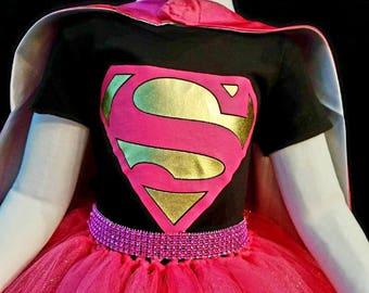 Super girl costume/super woman/super girl outfit/super girl/super girl cosplay/super girl birthday/super girl party/super girl play