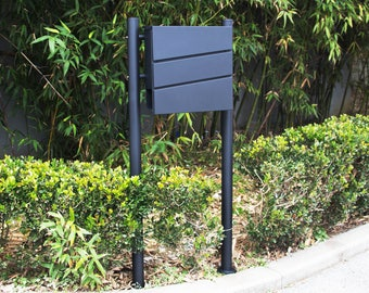 Stainless Steel MPB932B Mailbox and MPB502B Post Modern Urban Style
