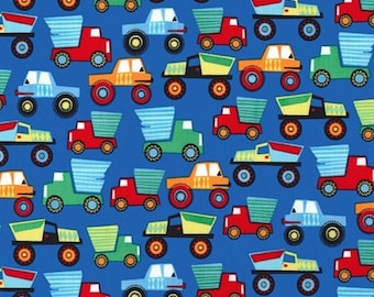 Mini patchwork fabric coupon trucks 54cmx22 cm
