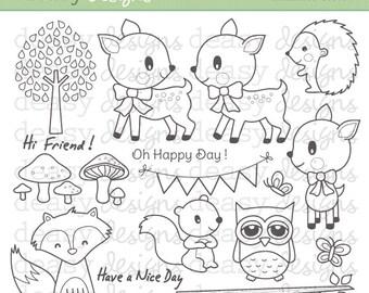 """Digital Stamp Art """" Enchanted Forest """""""