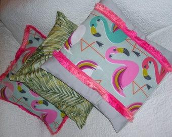 FLAMINGO PILLOW COVERS - flamingo pillow cover sets - flamingo home decor - flamingo pillow cases - flamingo decor