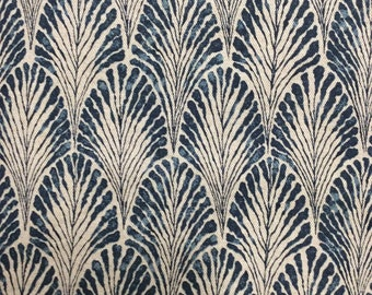 Plume Marine on natural Lacefield  home decor multipurpose fabric