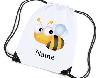 Personalised Childrens Gym/Sports Kit Bag Bumble Bee Design By inspired Creative Design