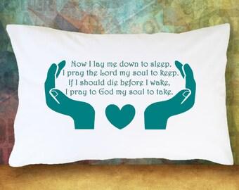Religious Faith Bedtime Prayer - Standard Pillow Case/Customized Pillow Case/Personalized Pillow Case/Photo Pillow Case/Decor Pillow Case