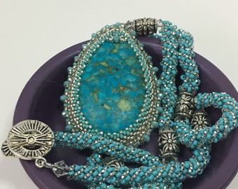 Turquoise Colored Magnesite Necklace