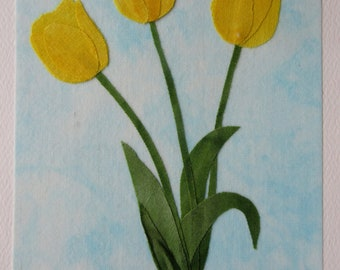 Yellow Fabric Note Card