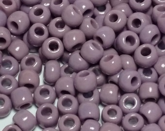 20g Opaque Lavender TOHO Seed Beads 3/0 - 5.5mm Beads - Approx. 118 Beads - Purple Beads - 3/0-52