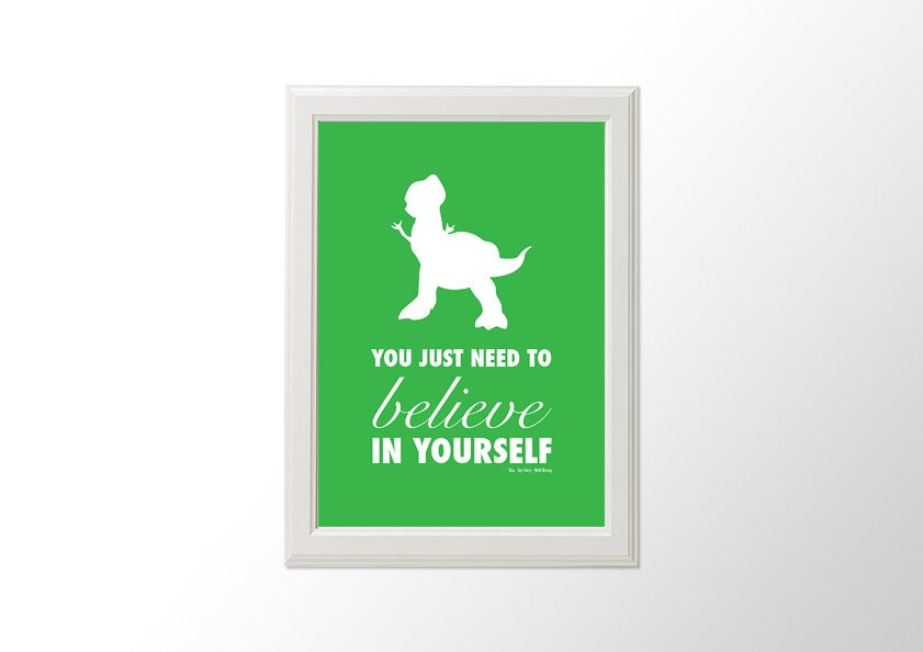 Printable You Just Need To Believe In Yourself Disney Pixar