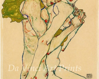 The Art of Egon Schiele. Friendship, 1915. Fine Art Print