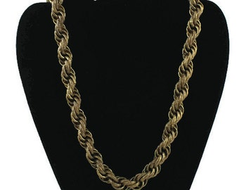Chunky Vintage Miriam Haskell Rope Chain - Antique Jewelry - 1960s  Necklace