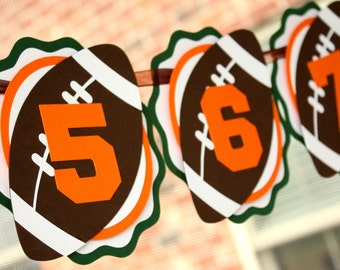 Football Photo Banner - First Birthday Football Banner - 1st Birthday Football Banner - Monthly Football Banner - Football Party Decorations