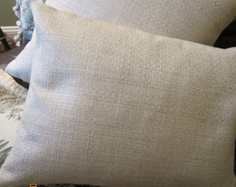 Pillows in golden woven chenille decorator fabric, various sizes