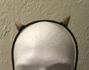Small Devil Horn attached to hairband for Halloween Costumes and more