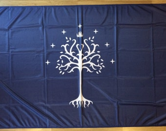 Lord of the Rings Flag | Gondor White Tree | 3x5 ft / 90x150 cm