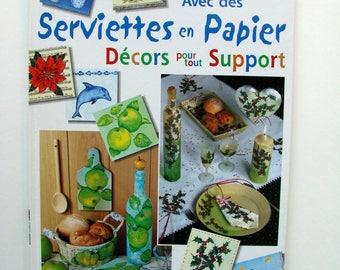 """Livre """"Avec des serviettes en papier""""  de Denise Hoerner, collage, décoration."""