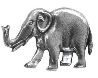Danforth Elephant 1 inch ( 25 mm ) Pewter Metal Button
