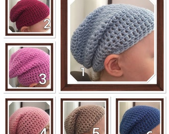 Toddler Slouchy Beanie #3 Pink