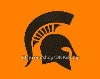 Spartan Helmet Embroidery Design - 6 Sizes - INSTANT DOWNLOAD