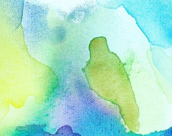 Watercolor Abstract Painting, Into the Sky