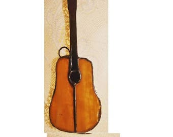 Stained glass - sun catcher GUITAR