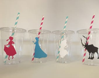 Frozen party cups, Frozen Birthday Party Cups, Elsa Party Cups, Anna Party Cups, Olaf Party cups, Frozen Party favors