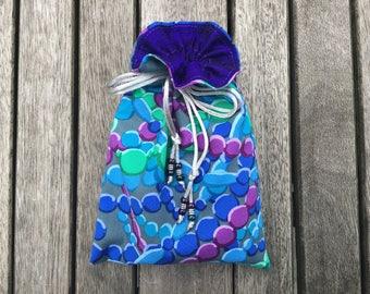 Cascade Tarot / Oracle Bag Lined with Deep Purple Dupion Silk