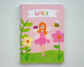 Personalized Fairy and Flower Notebook