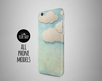 Paper Clouds iPhone X Case iPhone 8 Case iPhone 7 Case iPhone 8 Plus Case Samsung Galaxy S8 Case Birthday Gift Idea iPhone 7 Plus Case