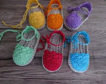 Crochet Pattern Baby sandals, Baby Espadrille , Crochet Pattern Espadrille N.104