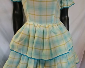 Adorable 1950's Western Swing Dress. Perfect for your next Western event!