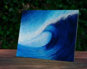 Surf Art Print, Beach Art, Surf Artwork, Ocean Wave Art, Tropical Art, Surfing, Hawaii, Surfer, Surfboard Art, Unique Art, Exotic Art Print