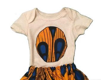 Ankara Baby/Toddler Skirt Set + Head Wrap
