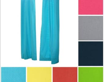 Solid Curtains- Pair of Drapery Panels- Solid Color Curtains- Plain Curtains- Custom Drapes- Blue Curtains- Coral Curtains- Grey Curtains