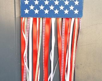 8x10 Stars and Stripes Door Hanger Banner