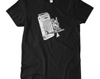 Women's Vintage Camera T-shirt - S M L XL 2x - Ladies' Tee, Camera Gift, Photographer Shirt, Photography Shirt, Hipster Camera Shirt