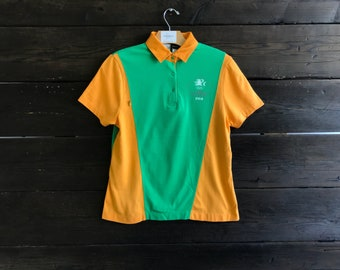 Vintage 80s Los Angeles 1984 Olympics Official Staff Uniform Polo