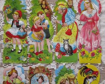 Vintage EAS Germany Paper Scraps Lithographed Die Cut Sweet Fairy Tale  EAS 3035