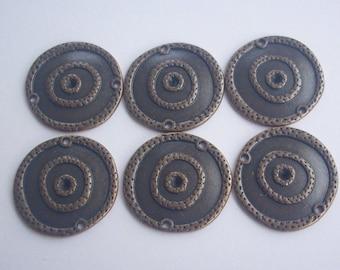10 Entre-deux en métal cuivre 22 mm -