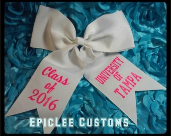 Graduation Bow! *Can also do monogram, Custom orders Welcomed!*