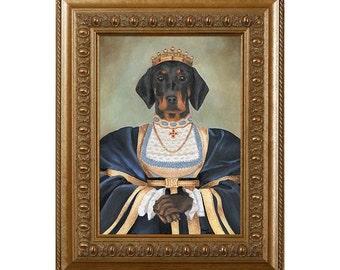 Doxie Lover Gifts, Dog Magnet, Queen Margaret, Dachshund, Refrigerator Magnet