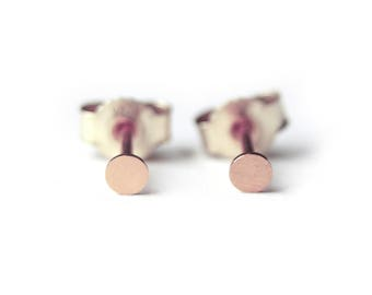 Rosegoldplated Silver Studs Earring Dots, small