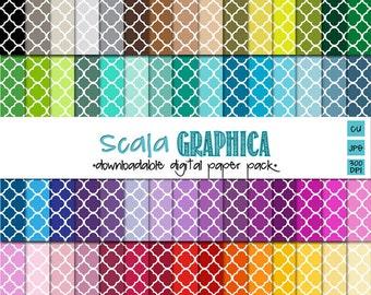 Quatrefoil Digital Paper Basic 34 [Instant Download]