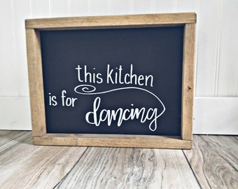 Adorable timeless kitchen sign