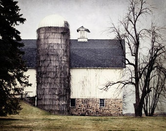 Barn Print, Farmhouse Wall Decor, Country Home Decor, Old Barn Picture, Country Landscape Photography, Country Barn Decor, Country Photo